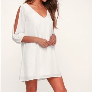 IVORY LONG SLEEVE DRESS